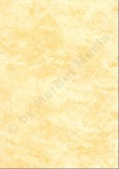 Marmorpapier DIN A4, 170 g/m², 50 Blatt, gelb